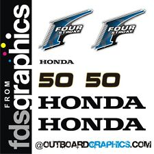 Honda 50hp 4 stroke outboard engine decals/sticker kit - other outputs available
