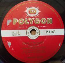 "Johnny Brandon - Don't Worry / Strike It Lucky - Polygon P.1163 - 10"" Shellac UK"