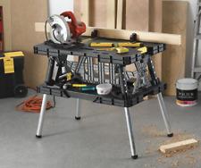 Work Bench Table Folding Sawhorse Saw Stand Portable Multi-Purpose Garage Tools