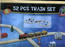 Maxim 50852 32-Pc Figure 8 Wooden Train Set-2005~Thomas/Brio~Boys & Girls-3+