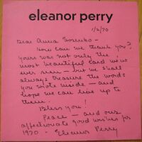ELEANOR PERRY 1970 ALS Autograph / Signed-Letter - Screenplay Writer