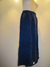 Nos USA Deadstock Vintage New Wave Black Blue Winter Knit Sweater Skirt Retro 14