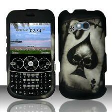 Spade Skull Rubberized Protector HARD Case Snap on Phone Cover for Net10 LG 900g