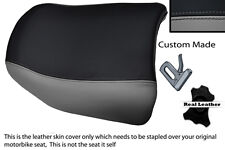 GREY AND BLACK CUSTOM FITS BMW R 1150 GS REAR PILLION REAL LEATHER SEAT COVER