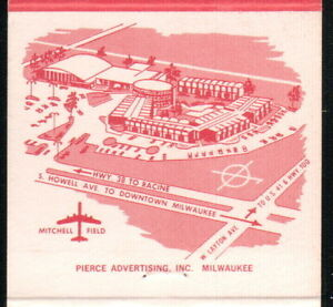 MILWAUKEE WI Red Carpet Inn RCI Vintage Motel Match Book Cover Old Advertising