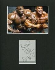 Ronnie Coleman IFBB bodybuilder Mr. Olympia Rare Signed Autograph Photo Display