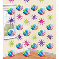 42ft 1980 1980/'s 80/'s Retro Disco Birthday Party Hanging Foil String Decorations