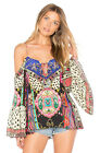 new CAMILLA FRANKS SILK SWAROVSKI ABOUT A GIRL DROP SHOULDER TOP layby avail