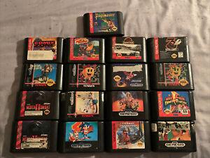 Lot Of 17 Sega Genesis Cartridges (ToeJam & Earl, Mortal Kombat, etc.)