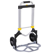330lbs Cart Folding Dolly Push Truck Hand Trolley Luggage Aluminium Bungee Cord