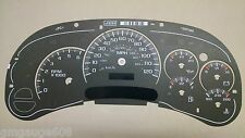 2003 04 05 OEM Stock Gauge Face/Overlay Chevy GMC Instrument Clusters Used A+