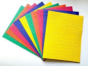 10 BIRTHDAY WORD EXPLOSION Embossed Card Fronts Recollection Primary Cardstock