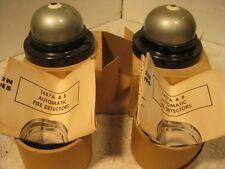 2 vintage Honeywell fixed temperature heat detecters