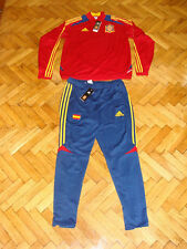 2xSpain National Team Soccer Tracksuits Adidas Football Training Suit 1red 1blue