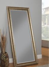 Full Length Floor Mirror Leaning Wall Mount Leaner Living Bedroom Gold Frame New