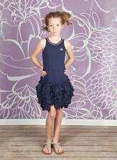 NWT Boutique No Added Sugar Navy Swing Out Knit Ruffle Tank Dress 9 10 Yrs.