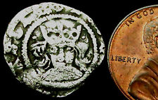 P630: Henry VI Medieval Hammered Silver Penny: Cross-Pellet church issue of York