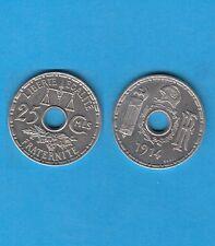 Troisième République 25 Centimes Nickel 1914 Essai de Becker Grand Module
