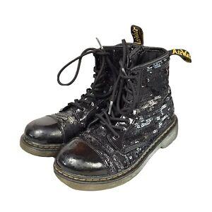 Dr Martens Black Sequins Boots Size UK 2.5