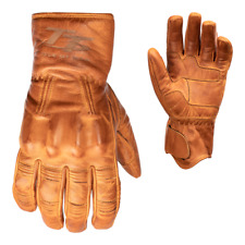 RST IOM TT Hillberry Classic Leather Riding Gloves - CE APPROVED - Tan
