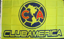 Club Aguilas Del America Flag Banner 3x5 ft, New Yellow Blue Cremas Bandera