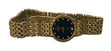 Rare Vintage Raymond Weil Diamond Gold Tone Swiss Quartz Fidelio 24mm Watch