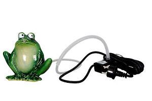 Wasserspeier spuckender Frosch Keramik mit Pumpe