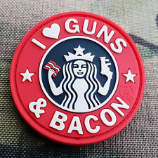 PATCH JTG 3D GOMME LOVE GUNS BACONS PAINTBALL AIRSOFT ARMEE MILITAIRE INSIGNE