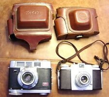 Pair of Kodak Cameras- Motormatic 35 & Pony 135 with leather cases