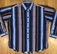 Ralph Lauren Polo Jeans Co Vintage Mens L/S Button-Up Shirt Striped Size XL