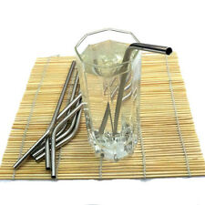 1/5/10XStainless Steel Drinking Straw-Home Bar Pub-Reusable Milkshake Party EB