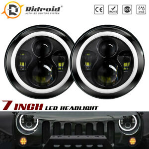 7inch Sealed Beam LED Headlights Halo For Dodge D100 D200 D300 W100 W200 Pickup