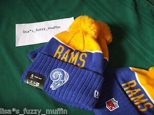 St. Louis / L.A. Rams New Era knit pom hat beanie NWT NFL OnField Throwback 2015