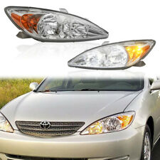 2pcs Left Amp Right Side Chrome Headlights Assembly For 2002 2004 Toyota Camry
