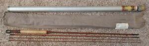 Vtg HEDDON #14 THOROBRED Split Bamboo Fly Rod 8 1/ 2 FT. 4 Pieces, Sack & Tube