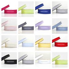 STRETCH BIAS BINDING trim - 18mm or 30mm width - ALL COLOURS  20m ROLL 1m or 5m