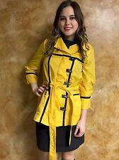 Zac Posen For Target XS Nylon Rain Jacket School Bus Yellow With Belt NWT