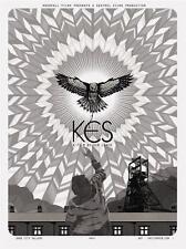 KES Inverno MOVIE POSTER KEN cobite Limited Edition Schermo Stampa da Nick Rhodes
