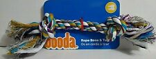 """Booda Bone Two Knot Multi-color Large Rope Tug for Dogs 12"""" Colors Vary"""