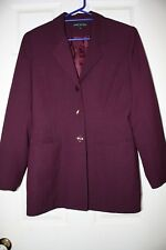 UNDER THE TABLE Size 10 Maroon Hip Length Jacket - Fully Lined