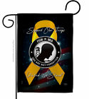 Support POW MIA Garden Flag Service Armed Forces Decorative Yard House Banner