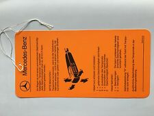 Hinweisschild Anhängeschild Tag Tempomat Cruise Control Mercedes R107 W116 W123