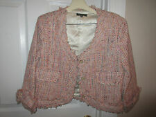 SKIRT SUIT - For Cynthia - Multi Color - 3/4 Sleeve - Lined - Sz Small / 4