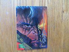 1995 FLEER MARVEL MASTERPIECES X-MEN CABLE CARD SIGNED DAVE DEVRIES ARTWORK