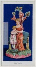 """1700s """"Pastime"""" Staffordshire Glazed  Earthenware Pottery 1920s  Ad Trade Card"""