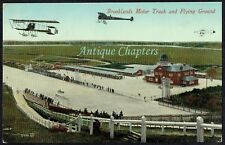 1913 Brooklands Motor Racing Track and Flying Ground For Aeroplane Postcard C184