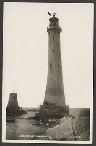Postcard Eddystone Lighthouse rocks Cornwall nr Plymouth Devon early RP