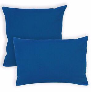 Aa193a Plain Solid Blue Cotton Canvas Cushion Cover/Pillow Case*Custom Size*
