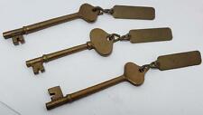 3 Antique Keys - Boat Keys -Brass-Captain-Head-1St Mate-Skeleton-Ship Bottom, Nj