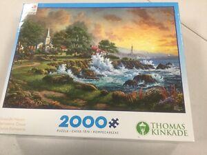 "Thomas Kinkade ""Seaside Haven"" 2000 Piece Puzzle NEW"